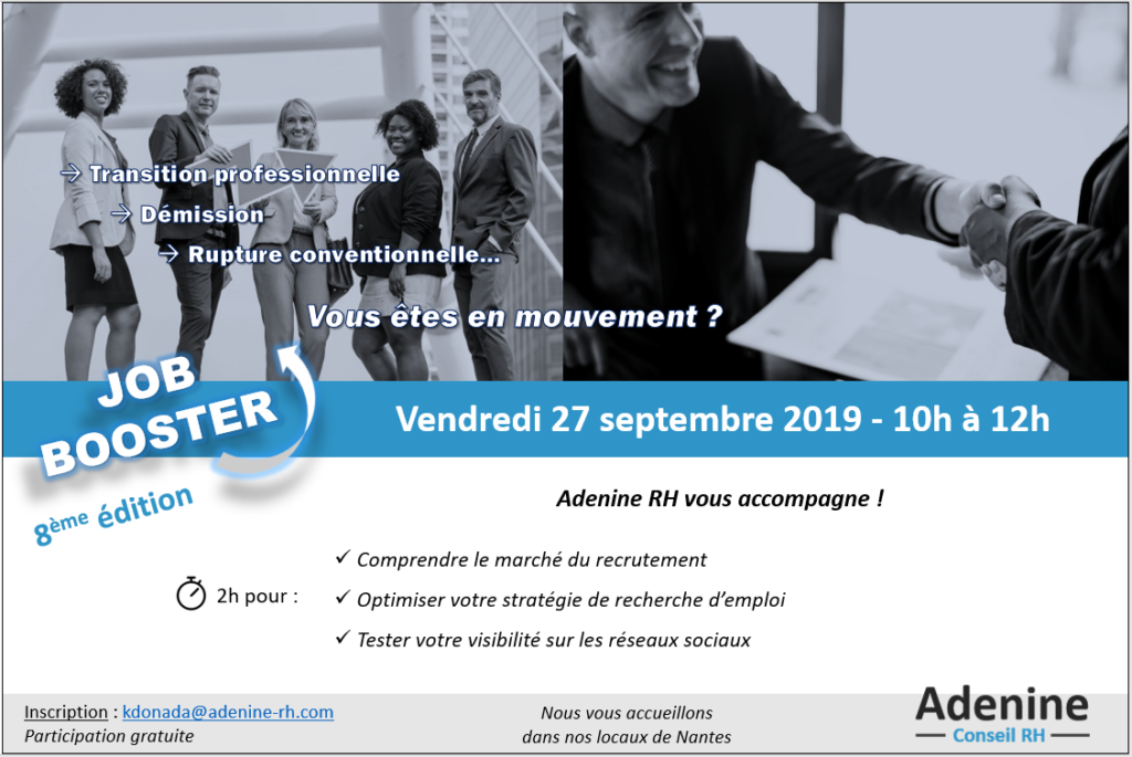 Job Booster #8 : C'est reparti !
