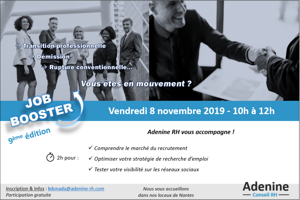Job Booster #9 : Nouvelle session le 8 novembre